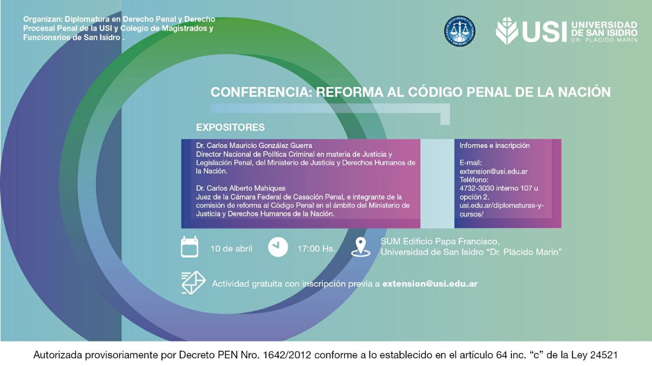 Conferencia: Reforma al codigo penal de la nacion
