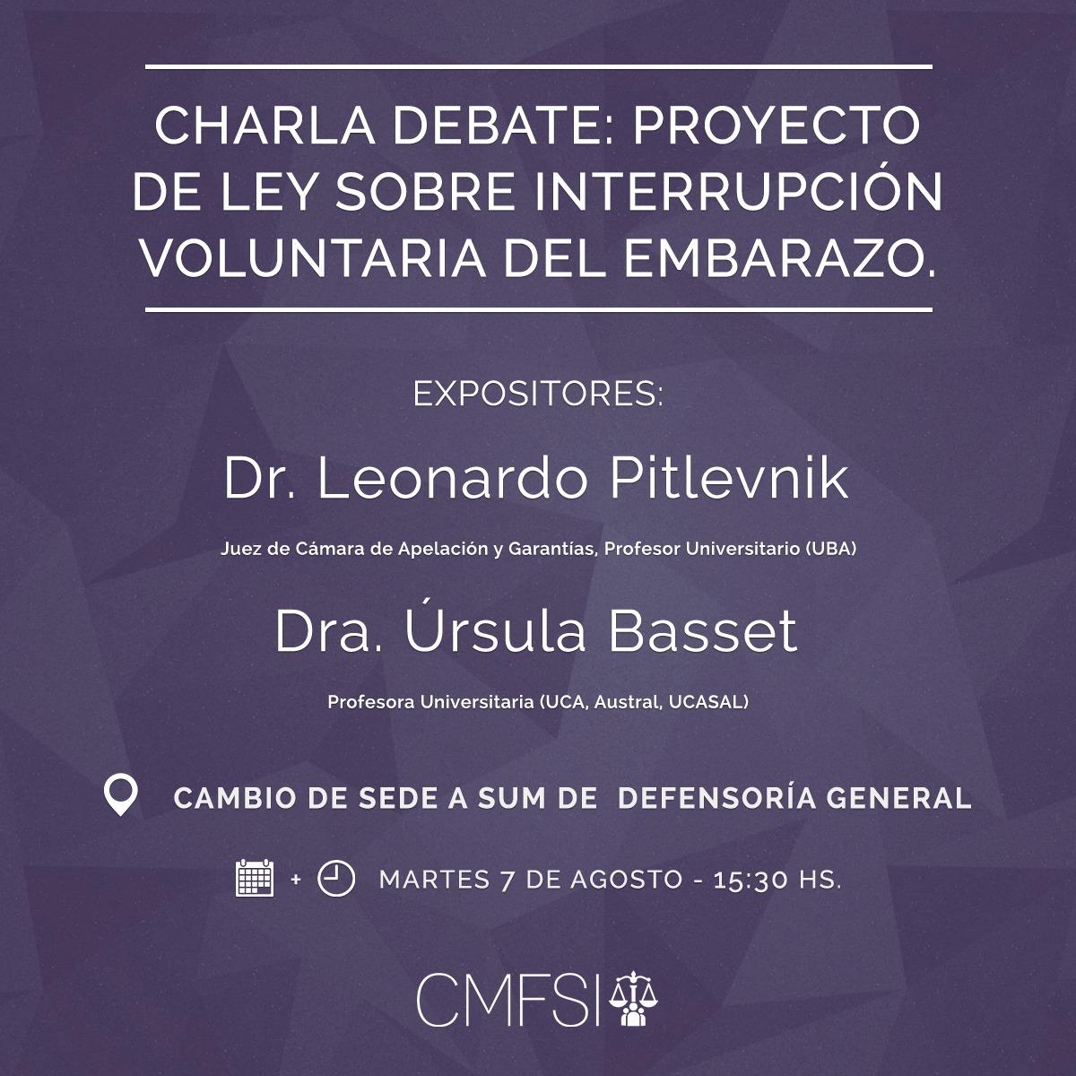charla debate proyecto de ley sobre interrupcion voluntaria del embarazo