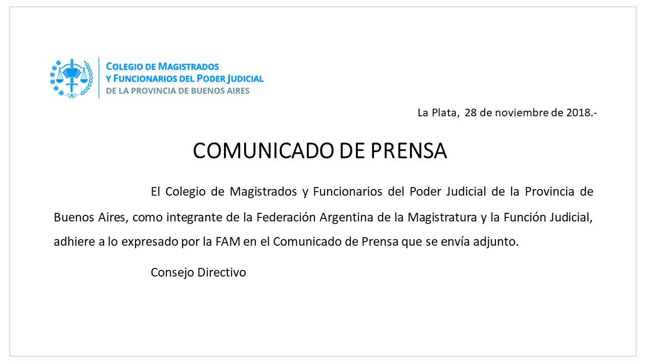 Comunicado provincial 28.11