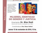 Mujeres, identidad de genero y justicia