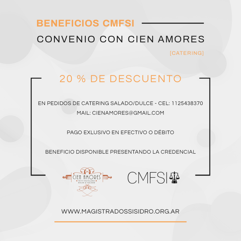BENEFICIO CIEN AMORES CATERING